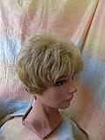 Парик короткий кудрявый платиновый блонд  ZINA-16Н613, фото 2