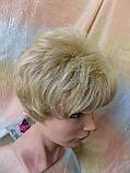 Парик короткий кудрявый платиновый блонд  ZINA-16Н613, фото 7