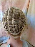 Парик короткий кудрявый платиновый блонд  ZINA-16Н613, фото 8
