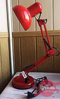 Красная настольная лампа на подставке