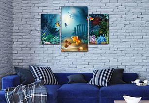 Картина модульная Золотая рыбка  для интерьера детского, 80х120 см, (55x35-2/80x45), фото 3