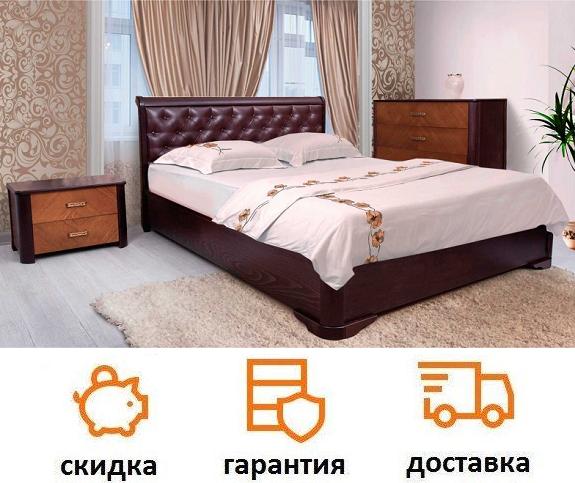 Кровать Милена с подъемным механизмом, мягкая спинка ромбы