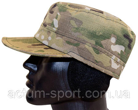 Утепленная кепка на флисе с ушками Multicam