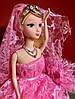 Оригинальный Сувенир Кукла Барби В Свадебном Платье с Фатой Брелок Кукла, фото 5