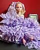 Оригинальный Сувенир Кукла Барби В Свадебном Платье с Фатой Брелок Кукла, фото 8