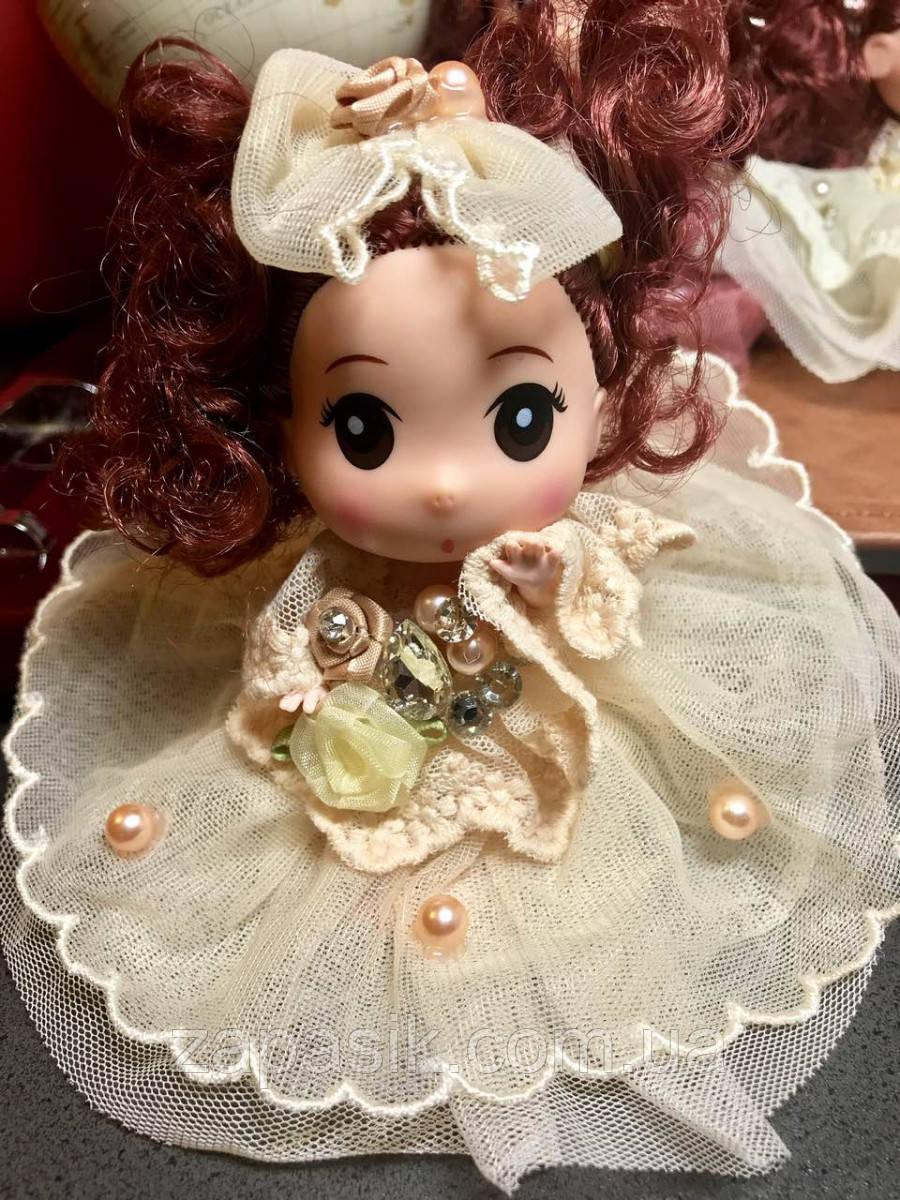 Оригинальный Сувенир Кукла Коллекционная В Платье Со Стразами Брелок Кукла