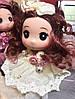 Оригинальный Сувенир Кукла Коллекционная В Платье Со Стразами Брелок Кукла, фото 5