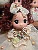Оригинальный Сувенир Кукла Коллекционная В Платье Со Стразами Брелок Кукла, фото 7