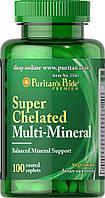 МУЛЬТИМИНЕРАЛЬНЫЙ КОМПЛЕКС Puritan's Pride, Super Chelated Multi Mineral, 100 табл.