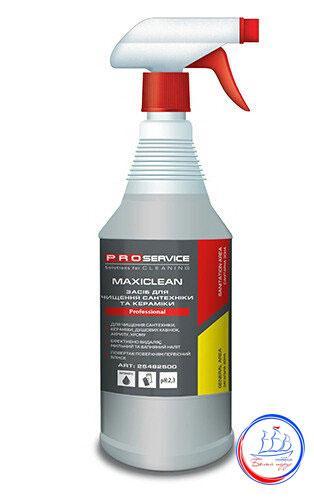 """Средство для керамики и сантехники для мытья душевых кабин 1л. MAXICLEAN ТМ """"PRO Service"""""""