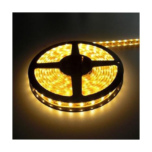 5м лента светодиодная, 300x 3528 SMD LED, желтая
