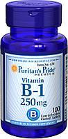 Витамин В1 Vitamin B-1 Тиамин Puritan's Pride, 250 мг, 100 таблеток