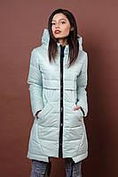Зимняя женская молодежная куртка. Код К-80-36-19. Цвет мята.