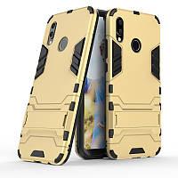 Чехол Huawei P20 Lite / Nova 3E / ANE-AL00 / ANE-TL00 Hybrid Armored Case золотой