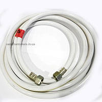 Шланг ПВХ газовий білий30 см 1/2 В/В сталь/латунь