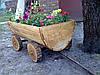 Телега декоративная деревянная