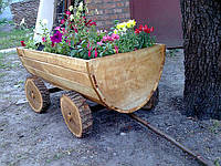 Телега декоративная деревянная, фото 1