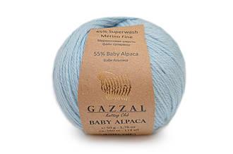 Gazzal Baby Alpaca, Голубой №46006