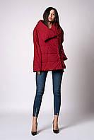 Женская молодежная демисезонная куртка-одеяло. Код модели К-119-38-18. Цвет марсала.