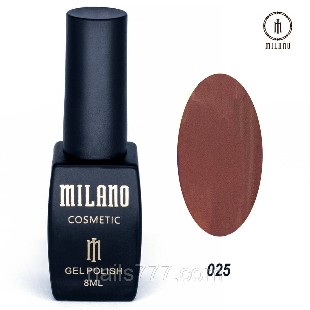 Гель-лак Milano 8 мл, № 025