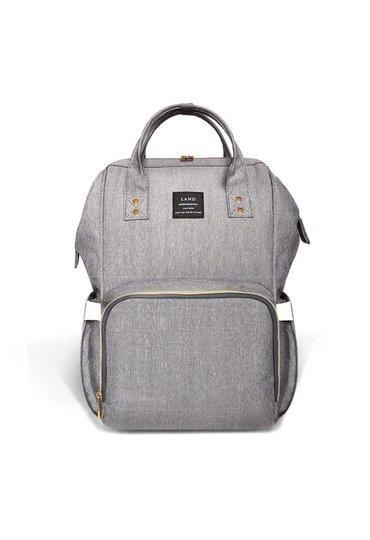 Органайзер на каляску сумка-рюкзак с термокарманами для мам для прогулки с ребенком 30 х 22 х 40 см Серый
