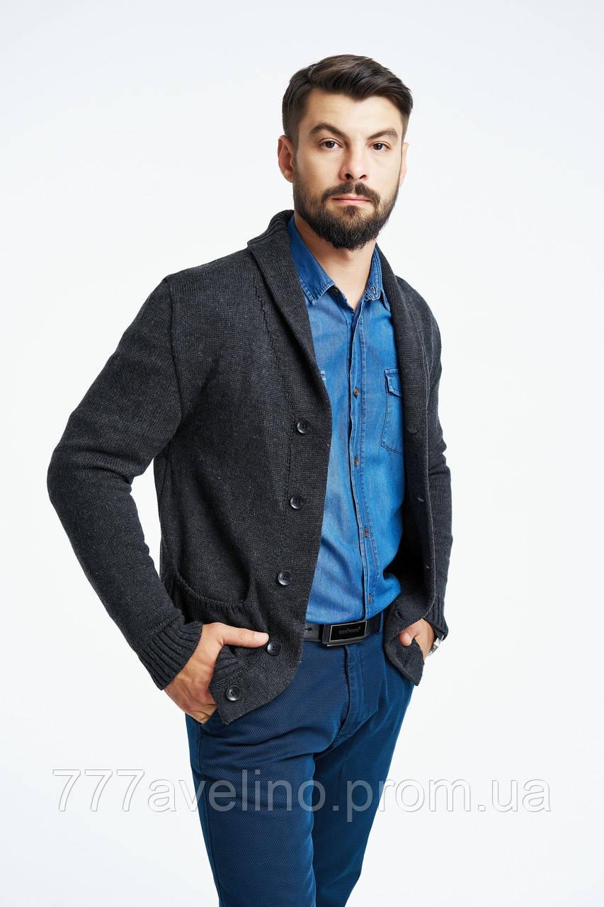 пиджак мужской вязаный стильный кардиган цена 899 грн купить в