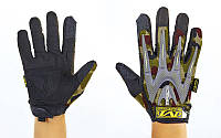Перчатки тактические с закрытыми пальцами MECHANIX WEAR (р-р L-XL, камуфляж Woodland)