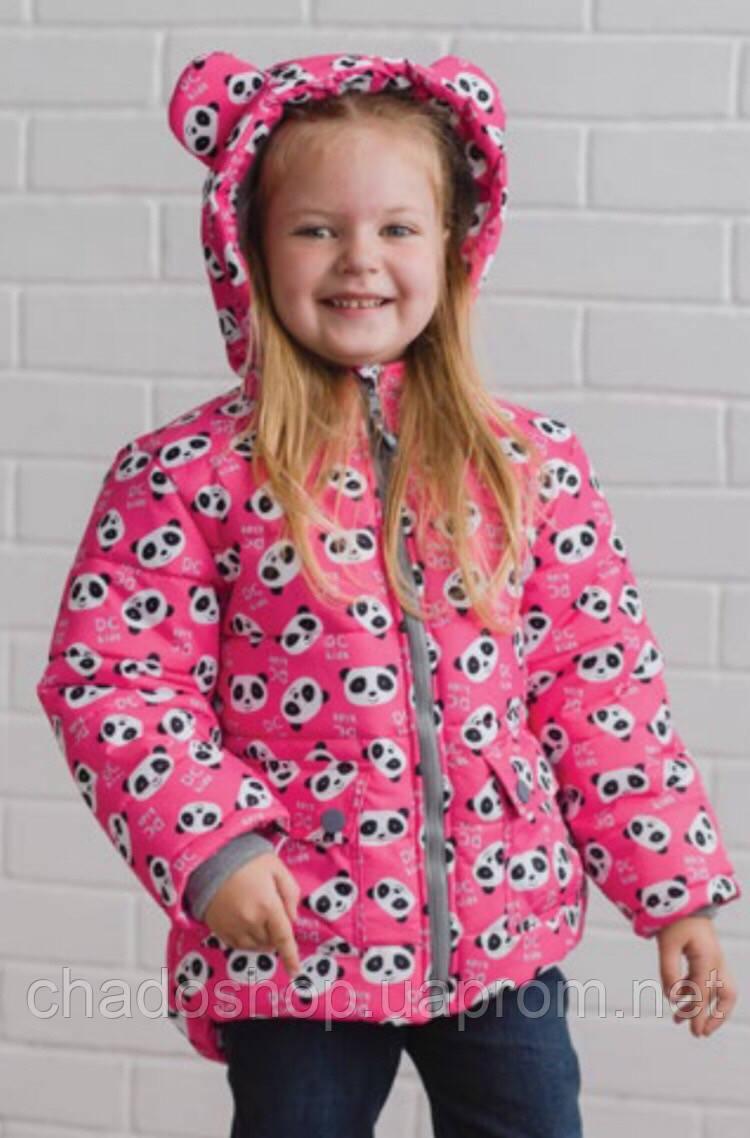 Зимняя детская курточка для девочки 104-128