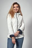 Женская демисезонная куртка. Код модели К-120-37-18. Цвет молочный.