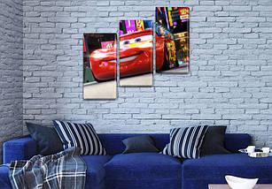 Модульная картина Молния Маккуин, 100х110 см, (70x35-3), фото 3