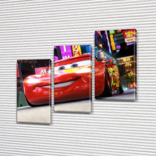 Модульная картина Молния Маккуин, 100х110 см, (70x35-3)