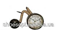 Винтажные настольные часы Велосипед