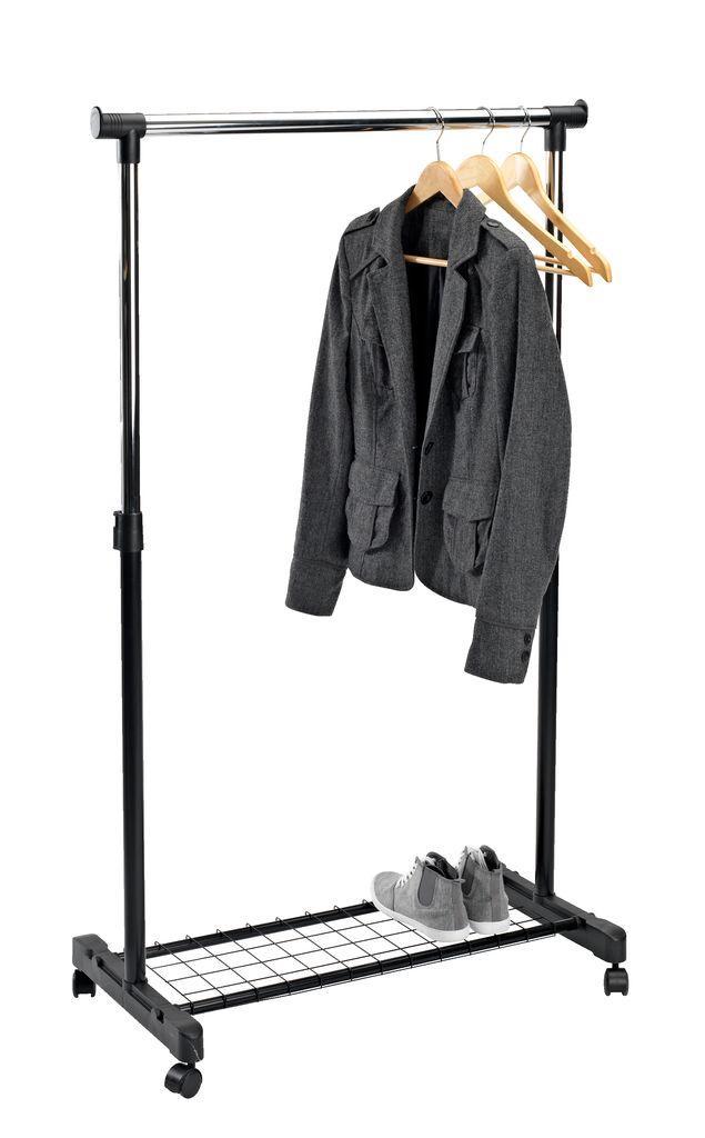Вешалка стойка для одежды напольная с полкой для обуви GUDME 93-168 х 83 х 43 см
