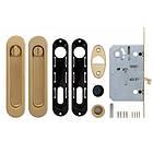 Набор для раздвижных дверей Armadillo SH011-BK SG-1 Матовое золото, фото 2