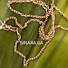 Золотая цепочка Якорь с алмазными гранями