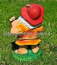 Садовая фигура Гном гармонист средний, фото 3