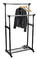 Вешалка стойка для одежды напольная  двойная с полкой для обуви GUDME 93-168 х 83 х 43 см., фото 1