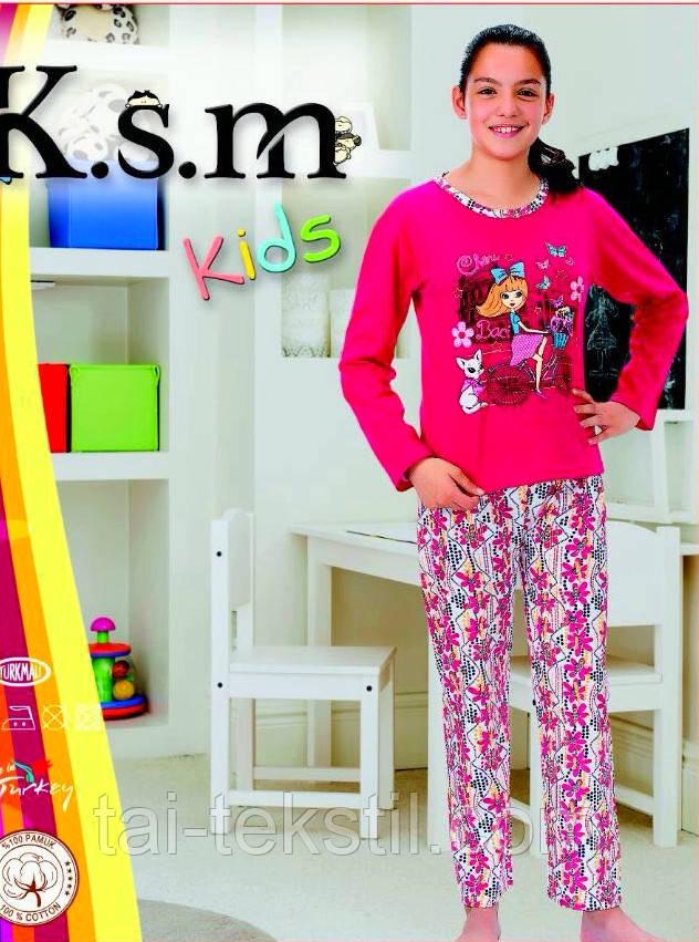 KSM пижама детская БАЙКА девочка 004 (5-14 лет)