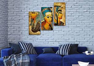 Модульная картина Образы Клеопатры  на Холсте, 100х110 см, (70x35-3), фото 3