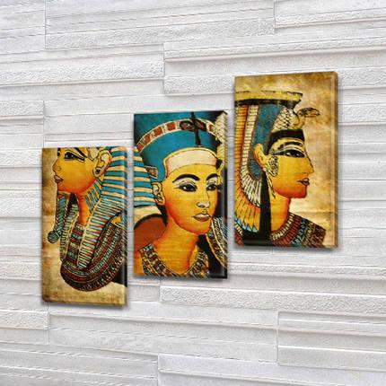 Модульная картина Образы Клеопатры  на Холсте, 100х110 см, (70x35-3), фото 2