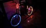 Подсветка колес велосипеда  ярким оптическим проводом II-покл..
