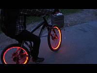 Подсветка колес велосипеда ярким оптический проводом 4-го покл.