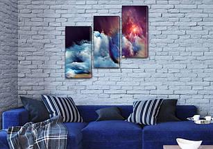 Модульные картины в спальню на Холсте, 100х110 см, (70x35-3), фото 3