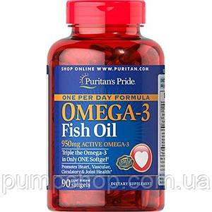 Омега-3 Puritan's Pride One Per Day Omega-3 Fish Oil 1360 mg  90 капс.