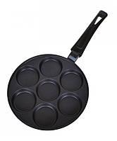 Сковорода для оладий 24х2см алюминиевая с антипригарным покрытием Биол