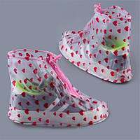 Дождевики для обуви HM-17 в сердечко - Карманные сапоги Пончи