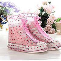 Дождевики для обуви HM-16 в горошек - Карманные сапоги Пончи