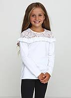 Блуза  белая  с рюшами, фото 1