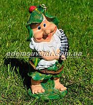 Садовая фигура Гном затейник средний, фото 3