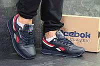 Мужские зимние кроссовки темно синие с красным  Reebok 6424, фото 1